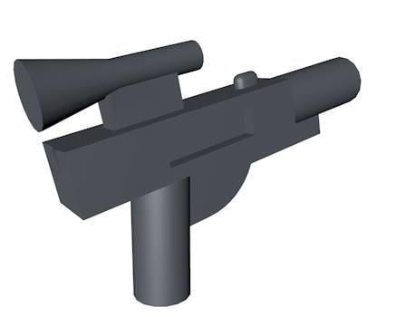 3d model of lego space gun