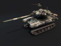 t-90 tank 3d obj
