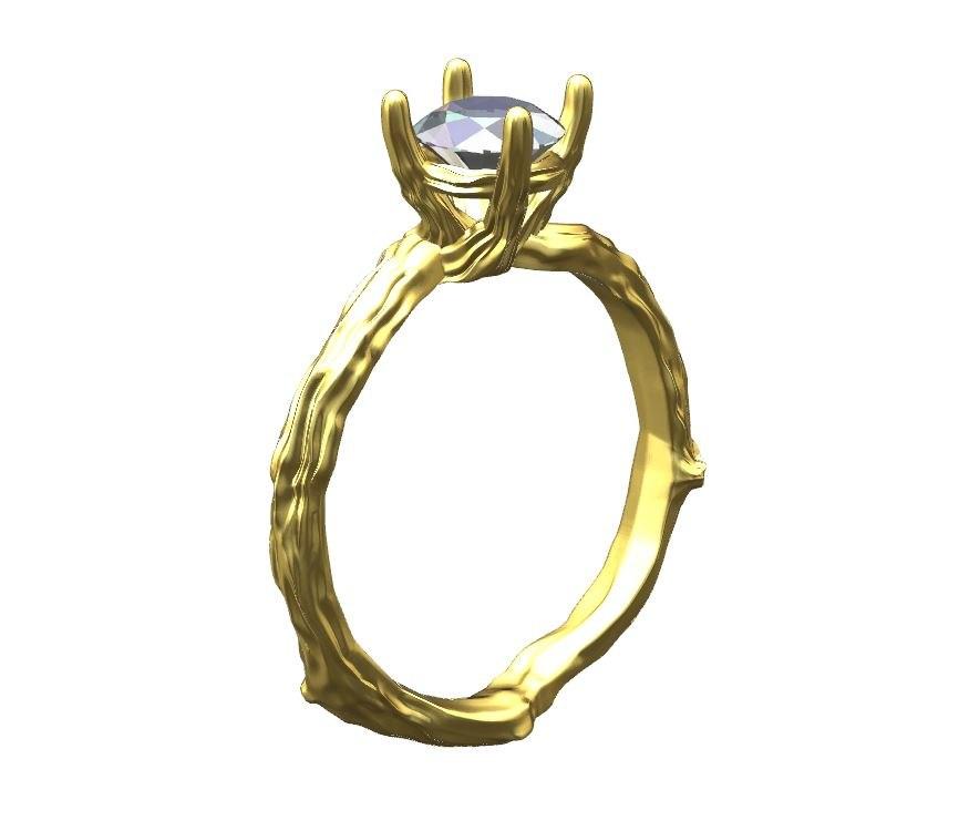 3d 3dm ring diamond gold