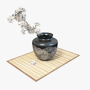 sakura vase 3d model