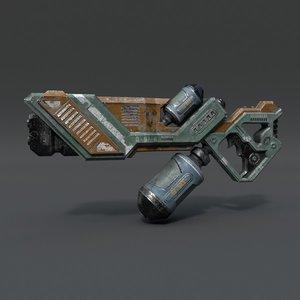 3d model rifle pbr details