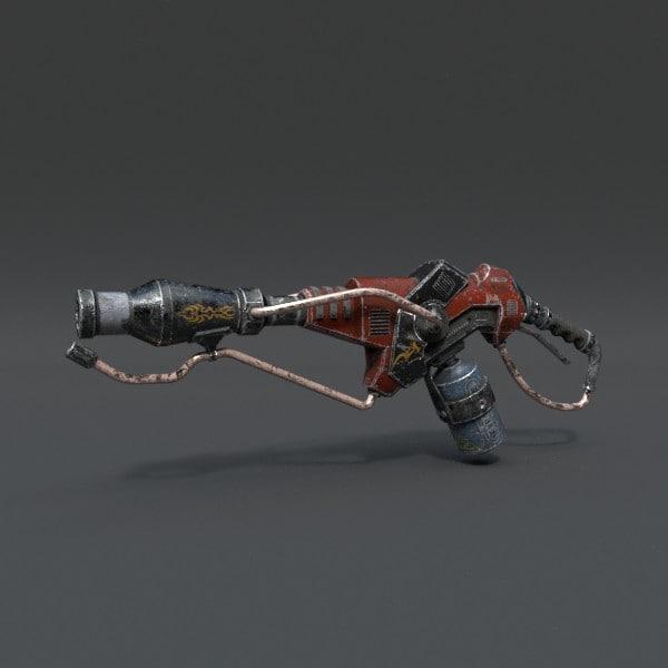 3d 3ds rifle pbr details