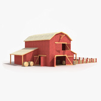 Red Barn Low Poly