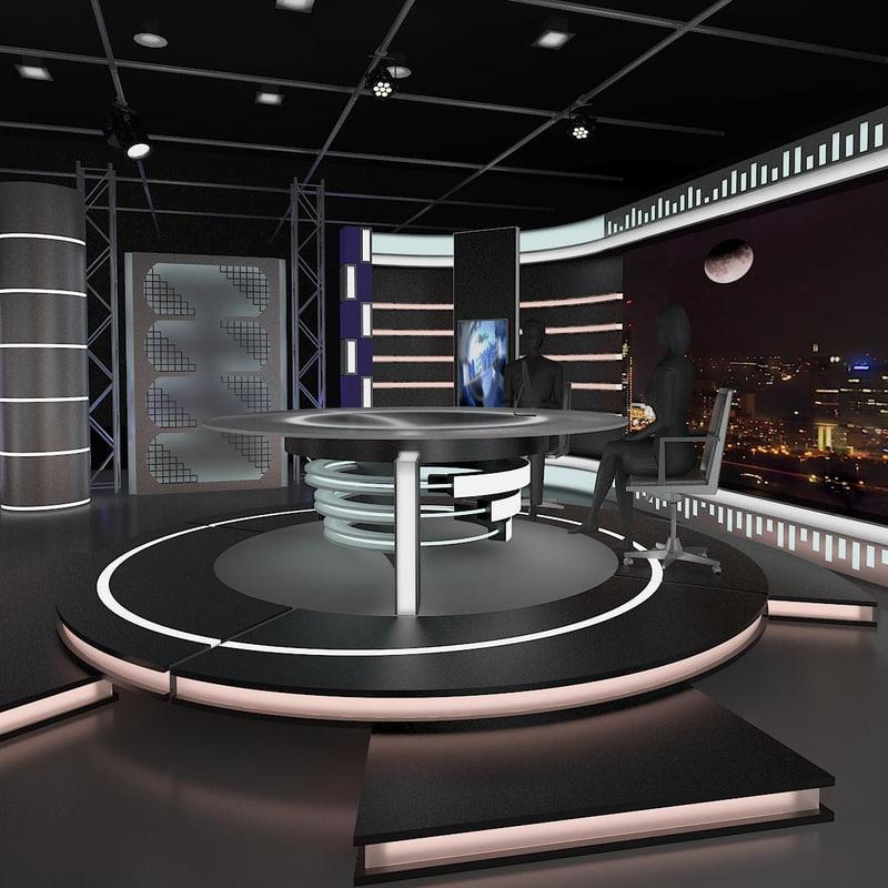 3d news studio 011