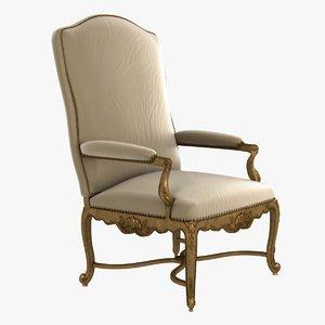 luxury historic armchair 3d model