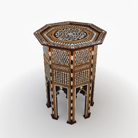 3d model of moroccan furniture turkish