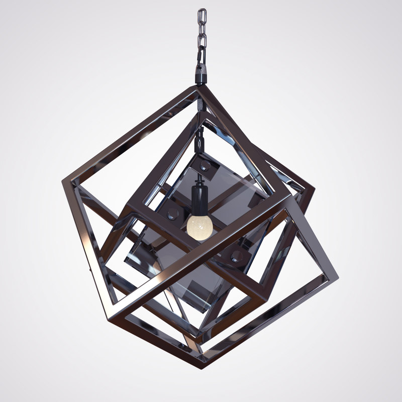 3d model cubis chandelier