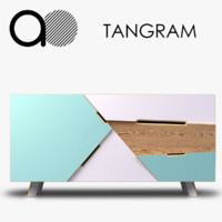 at-once tangram credenza 3d model