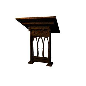 3d vintage table model
