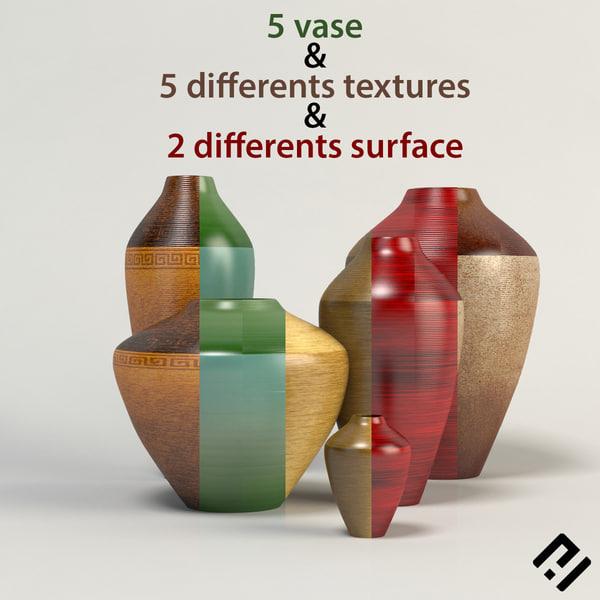 3d vase decorative