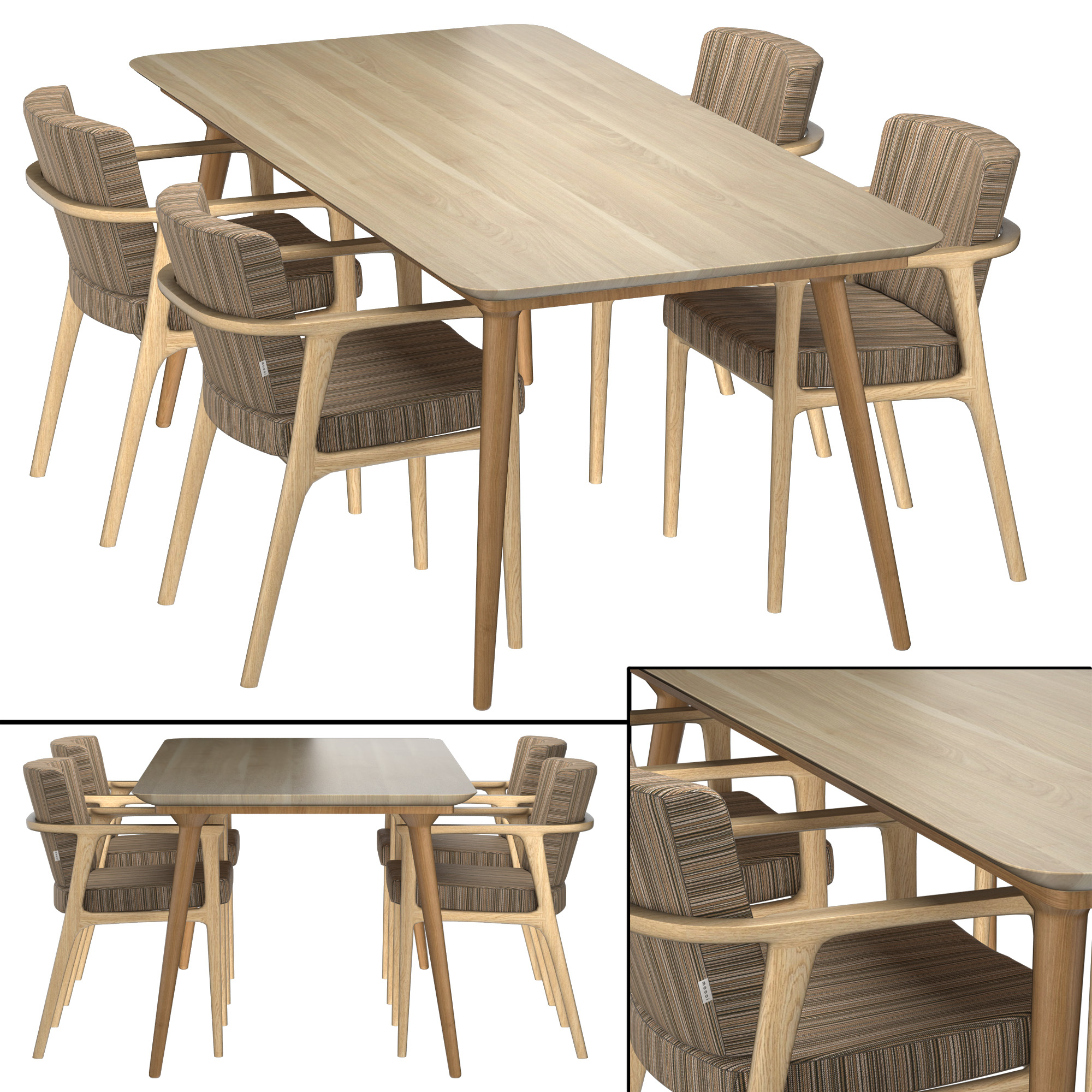 Zio Dining Table And Chairs