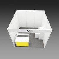 self scheme booth 3d model