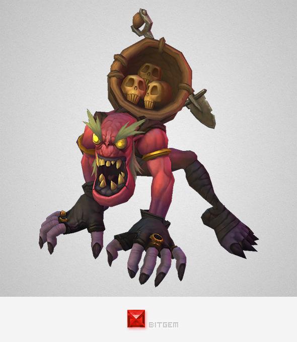 monster ghoul scavenger 3d model