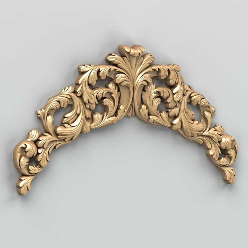 3d carved horizontal decor