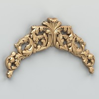 Carved decor horizontal 019