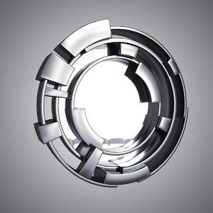 vortex mirror 3d obj