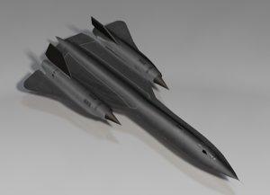 sr-71 blackbird bomber plane 3d c4d