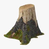 tree stump 02 3d obj
