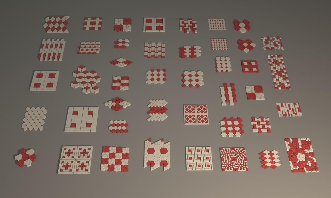 3d 44 stree wall tiles