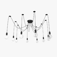 loft extravagant chandelier 3d max