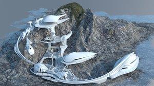 3d model futuristic space