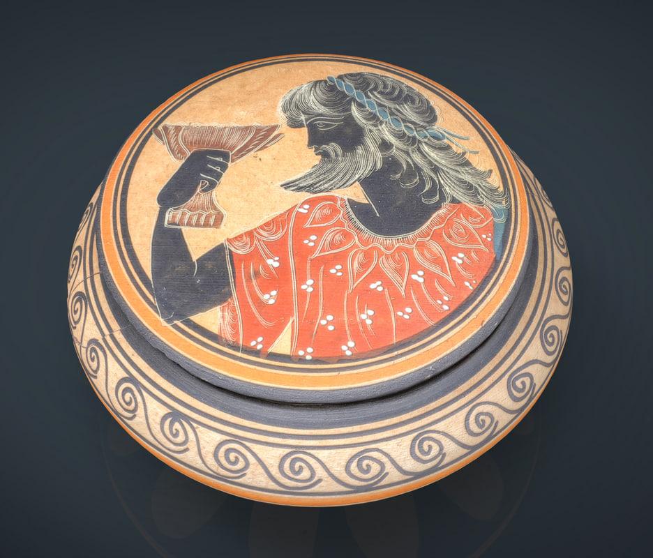 realistic greek vase ma