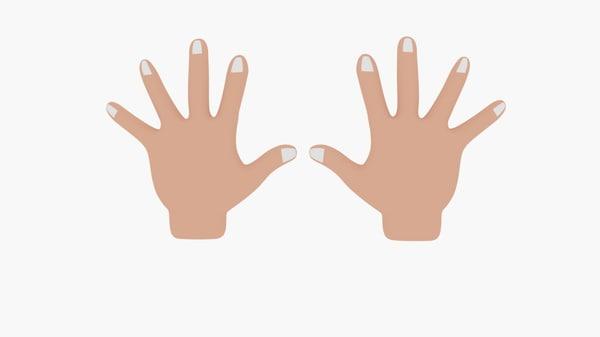 cartoon hand 3d 3ds