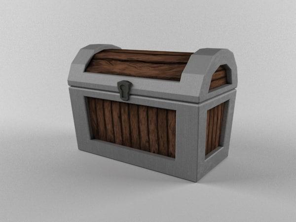 chest cartoon gamedev 3d model