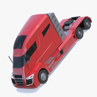 3d model nikola semi-trailer truck