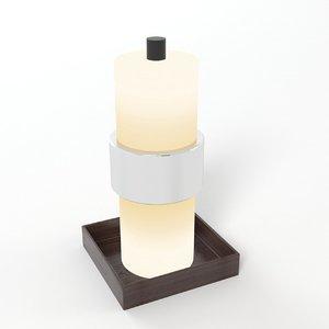 designer bedside lamp 3d 3ds