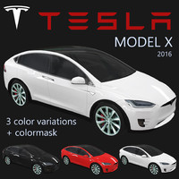 electric tesla x 2016 3ds