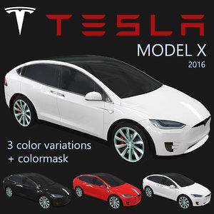 electric tesla x 2016 3ds
