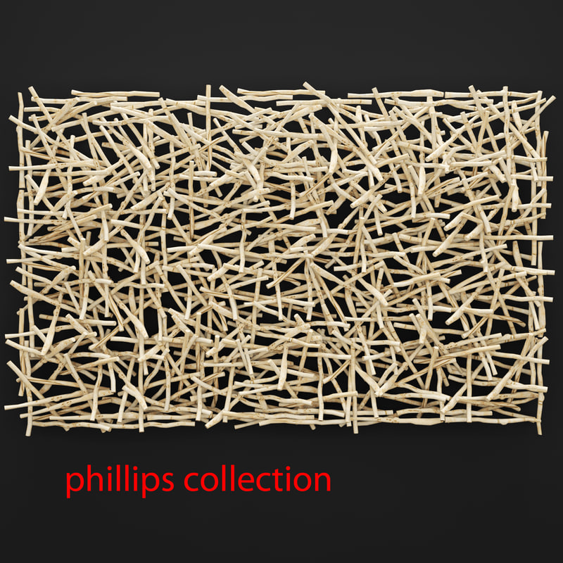 stick wall art 3d obj