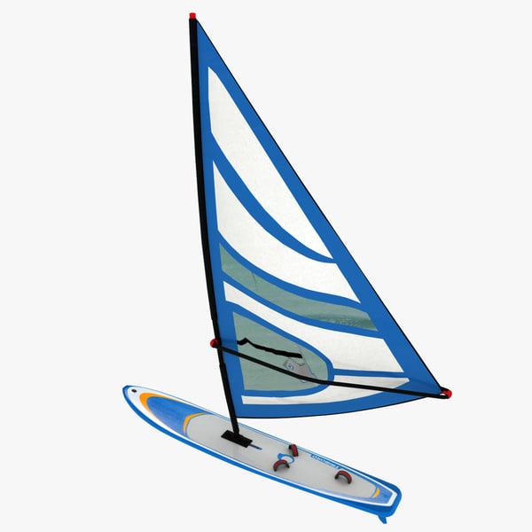 3d windsurfing board model