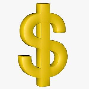 dollar gold 3d c4d