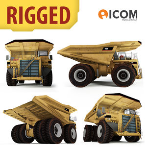 3d model haul truck