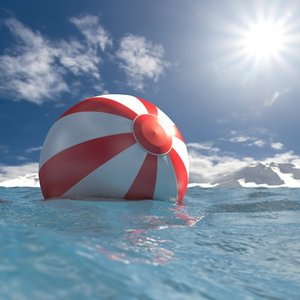 waterball ball water c4d