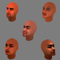 5 Men Heads Collection