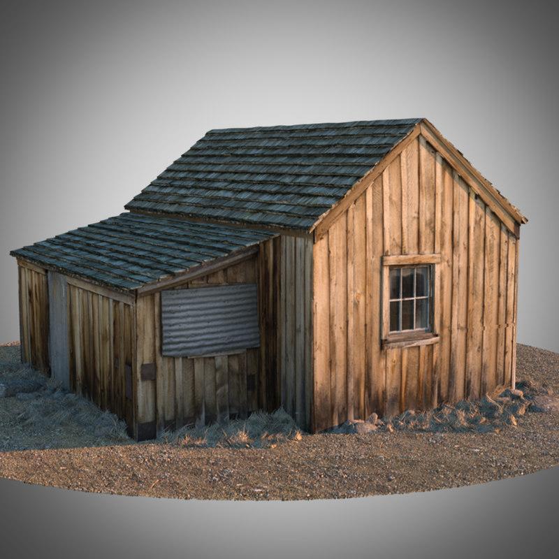 old house octane 3d model