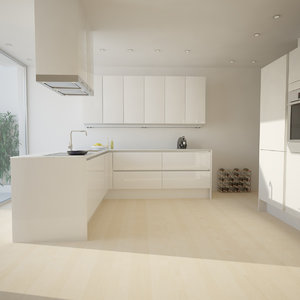 kitchen scene 3ds