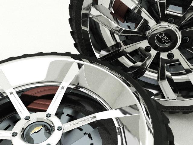 3d model wheels hd