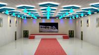 banquet hall 3d max