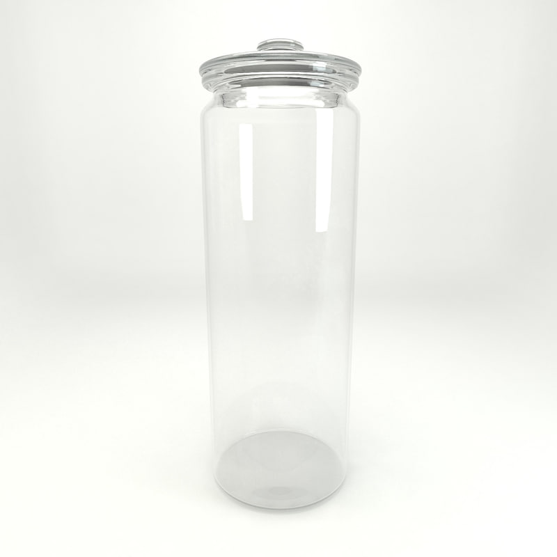 3d glass jar model
