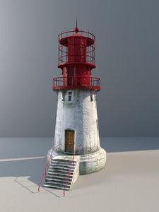 lighthouse low-poly lods obj