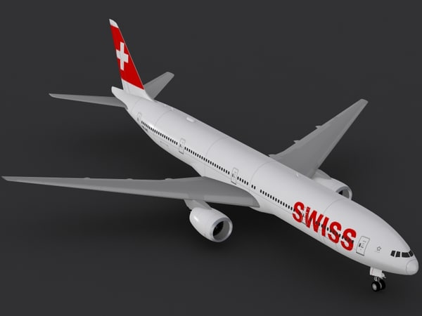 3d boeing 777-300 er swiss model