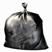 trash bag 3d model