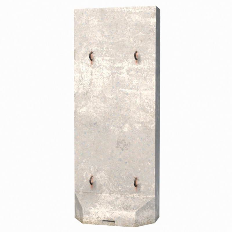 barricade concrete 3d model