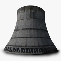 3d cooling tower nuclear model