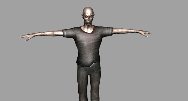 zombie character scary 3d model