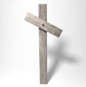 3d cross tilted